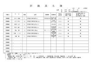 評議員名簿 (平成30年04月01日現在)