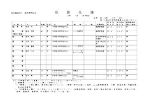 理事役員名簿 (平成30年04月01日現在)